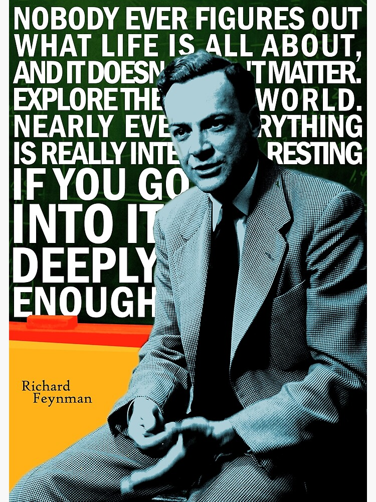 Richard Feynman by pahleeloola