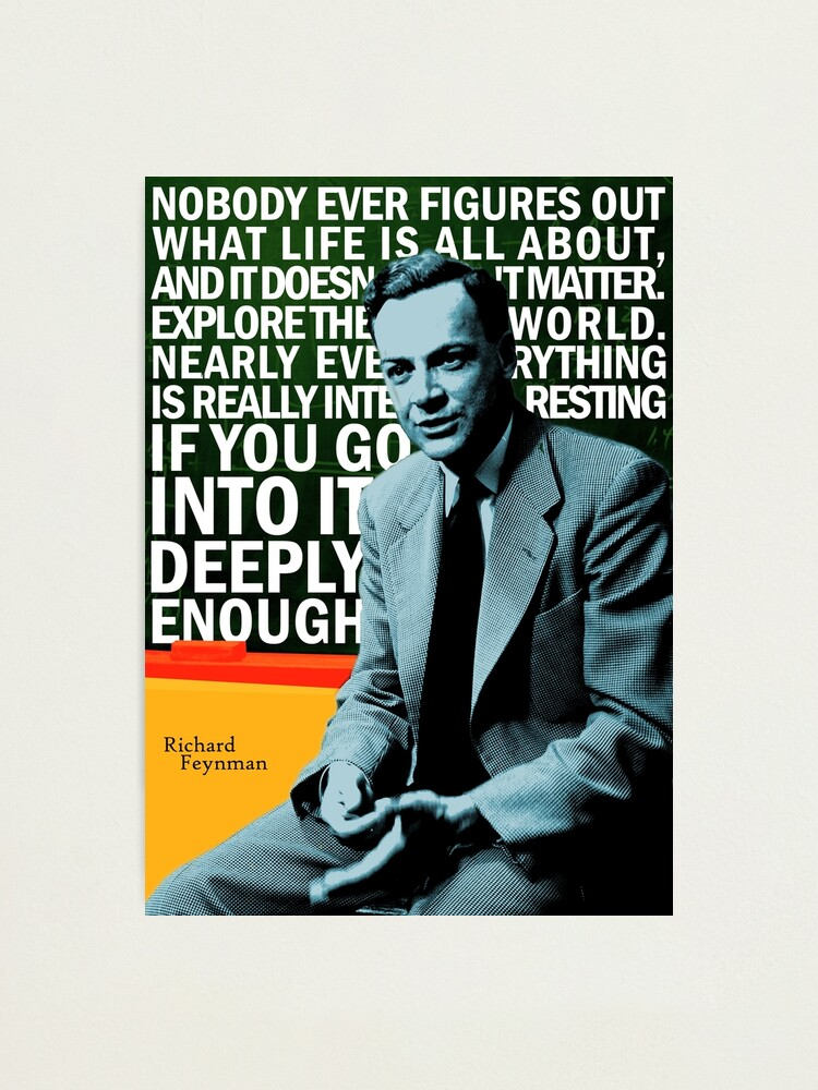 Alternate view of Richard Feynman Photographic Print