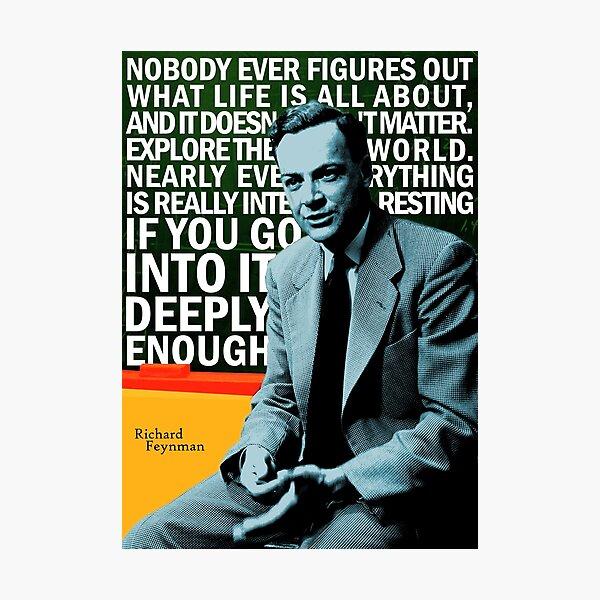 Richard Feynman Photographic Print