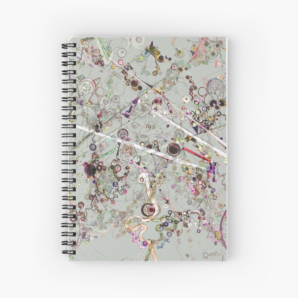 Alien Microbes Spiral Notebook