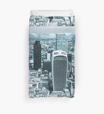 London City scape with a blue hue Duvet Cover
