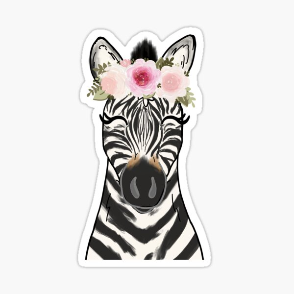 Blumenkrone Zebra Sticker