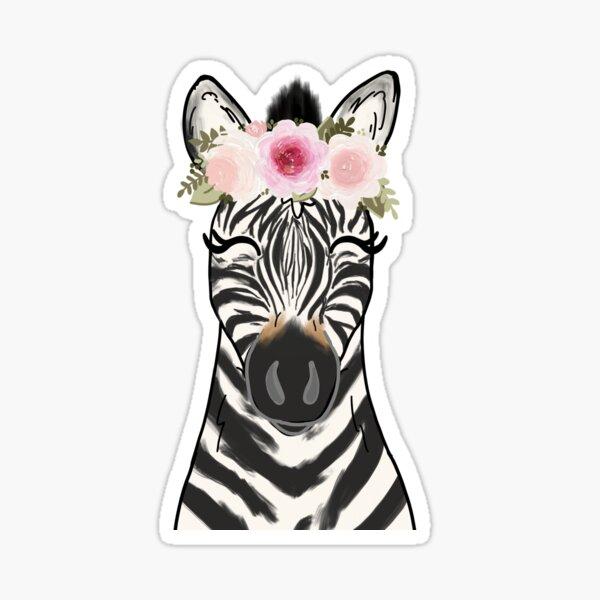 Floral Crown Zebra Sticker