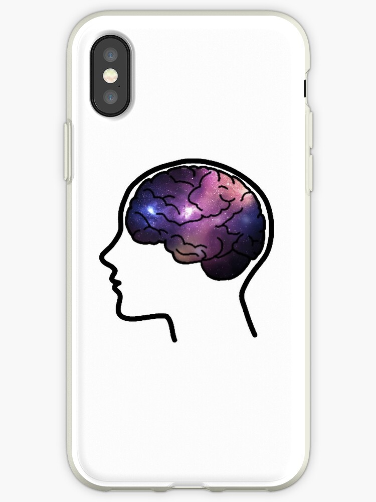 Their Head Was Up In Space (Galaxy Print) by Hannah Marland