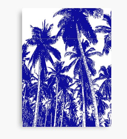 Palm Trees in a Posterised Design Canvas Print
