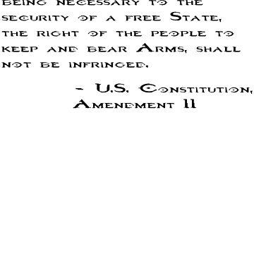 2ND AMENDMENT QUOTE STICKER by bigbadchadley