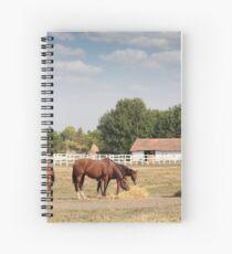 Pferde in Corral Farm Szene Spiralblock