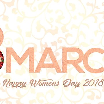 8 march happy women's day cards posters gifts by picto-graph