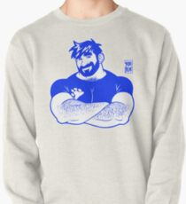 ADAM LIKES CROSSING ARMS - LINEART BLUE Pullover
