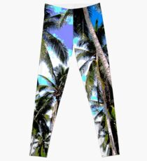 Palm Trees in a Posterised Design Leggings