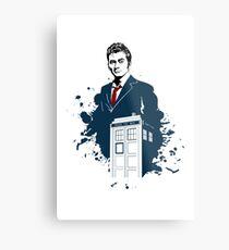 David Tennant Doctor Who Art Metal Print