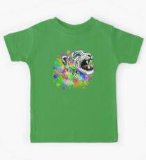 Leopard Psychedelic Paint Splats Kids Tee