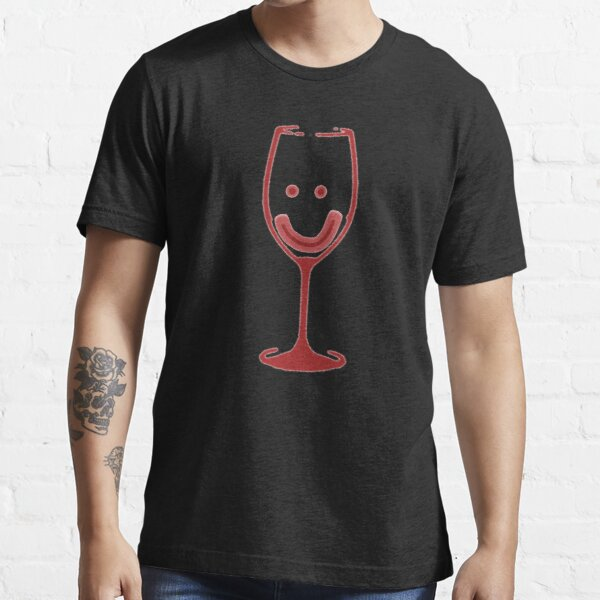 Smiley Wine Glass Essential T-Shirt