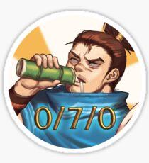Drunken Yasuo Sticker