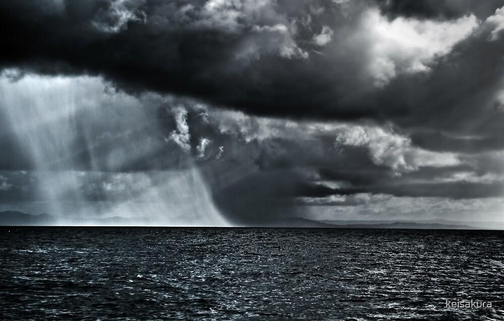 Rain over Sea by keisakura