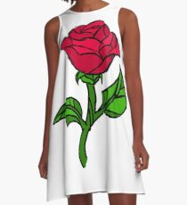Stained Glass Rose A-Line Dress