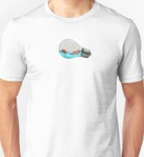 Fish bowl/ light bulb  Unisex T-Shirt