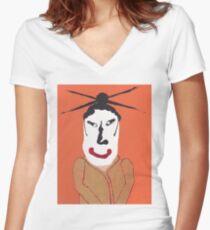 Kabuki - Martin Boisvert - Face à flaques T-shirt col V femme