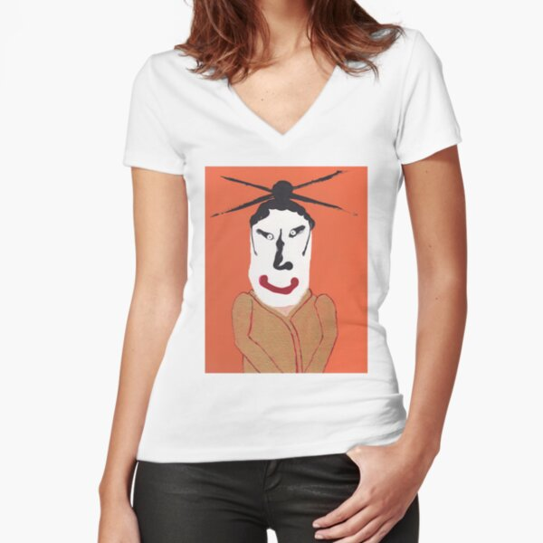 Kabuki - Martin Boisvert - Face à flaques T-shirt moulant col V