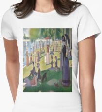 A Sunday Afternoon on the Island of La Grande Jatte-Georges Seurat Women's Fitted T-Shirt