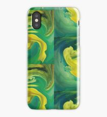 Blurred yellow iPhone Case