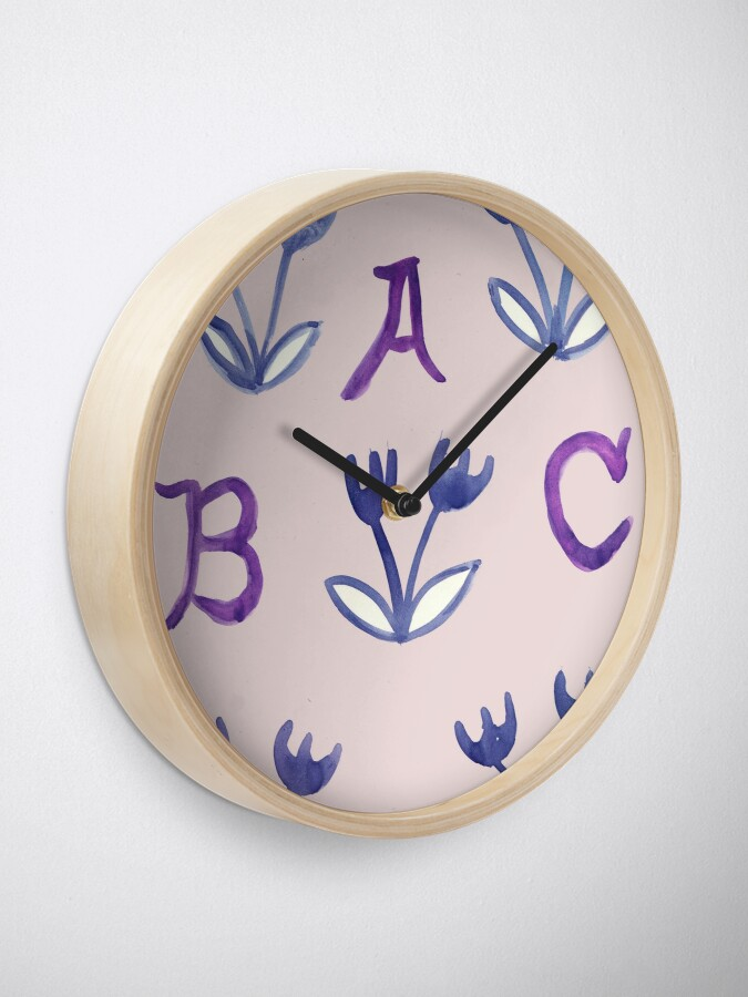 Alternate view of Back To Basics ABCD Clock