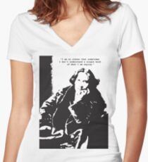 Oscar Wilde Women's Fitted V-Neck T-Shirt