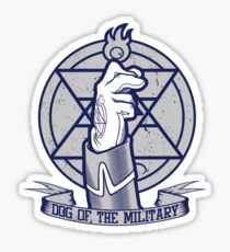 Dog of the Military: Flame Sticker
