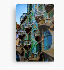 Casa Batllo by Gaudi in Barcelona Metal Print