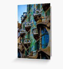 Tarjeta de felicitación Casa Batlló de Gaudí en Barcelona