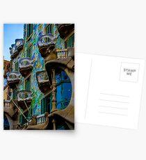 Casa Batllo by Gaudi in Barcelona Postcards