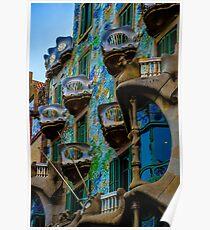 Casa Batllo by Gaudi in Barcelona Poster
