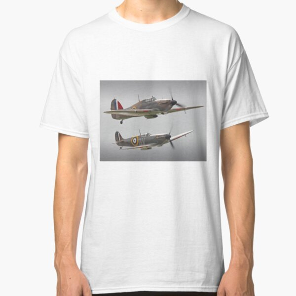 Hurricane And Spitfire Battle Of Britain Classic T-Shirt