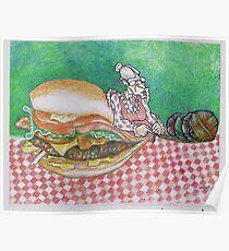 Grandma's Knit Burger Poster