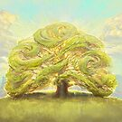 The Oak on the Hill by Julie Dillon