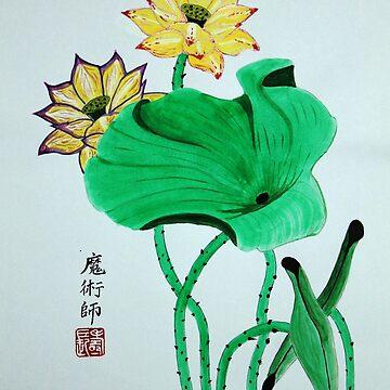 lotus painting  by lozanoroyce