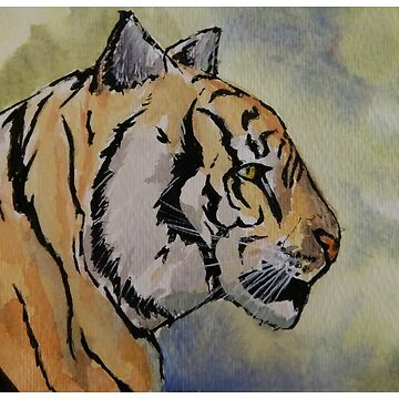 Tiger Watercolor by PKIDAWMBT