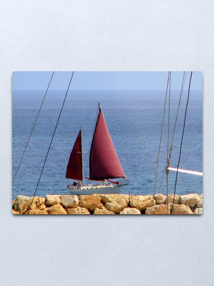 Alternate view of Land Ahoy! Metal Print