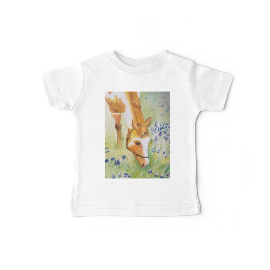 Horse in Lavender Field by Nancy Roche