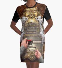 Clockwork Confessional Graphic T-Shirt Dress