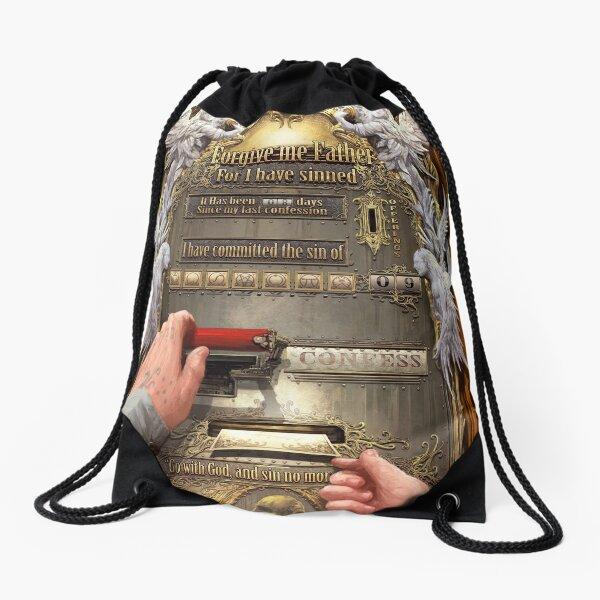 Clockwork Confessional Drawstring Bag