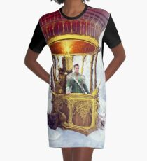 Lighter Than Air Chariot Graphic T-Shirt Dress