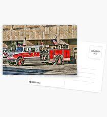 Fire Truck Adjust Postcards