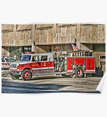 Fire Truck Adjust Poster