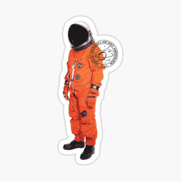 NASA Orange Suit Sticker