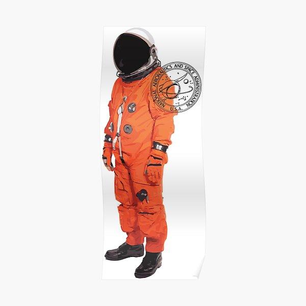NASA Orange Suit Poster