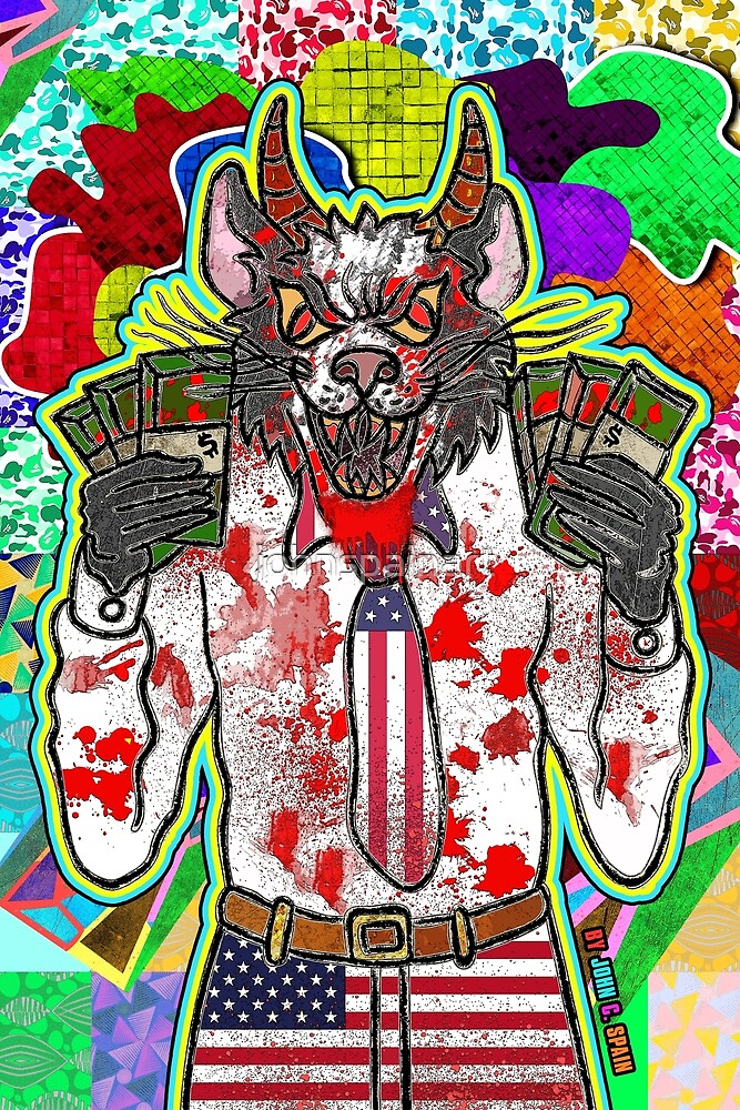 Mr. Wolf ( Dark Thoughts, Harsh Truth's 2 ) by johnspainart