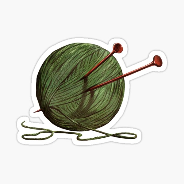 Ball of Yarn Sticker