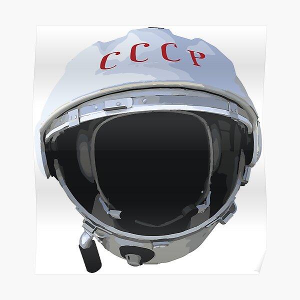 Yuri Gargarin Helmet - 1961 Vostok 1 Poster