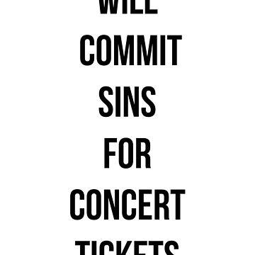 Cometerá pecados por boletos de conciertos de MayaTauber